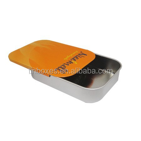 metal gift color printing customed rectangle push pull tin box