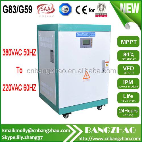380VAC 50HZ to 220VAC 60HZ Step down voltage frequency converter