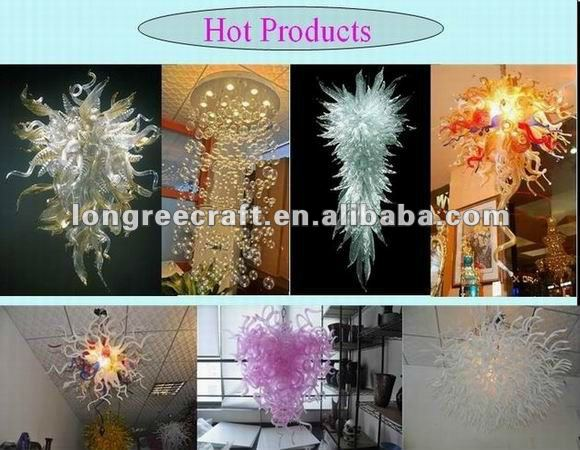 Modern LED Hand Blown Glass Chandelier Lighting