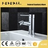 Contemporary brass single hole bidet faucet in deck mounted