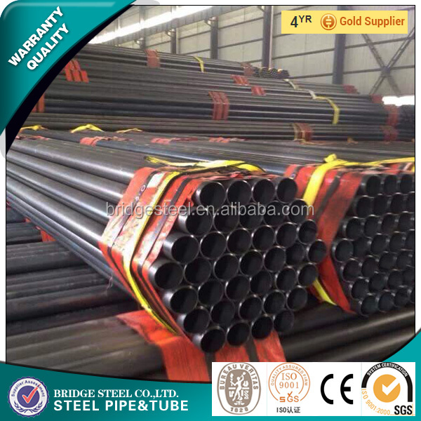ERW Weld Black Carbon Steel Pipe Round Factory Manufacturer