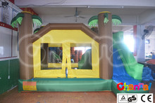 inflatable little jungle home use castle with basketball hoop