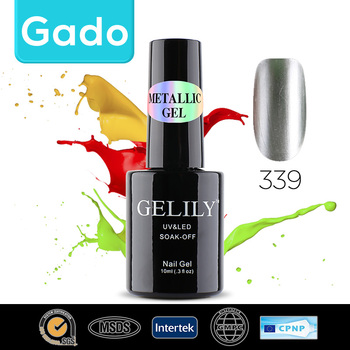 2016 Gado long-lasting Soak Off Acrylic Gel Nail Polish Metallic Gel