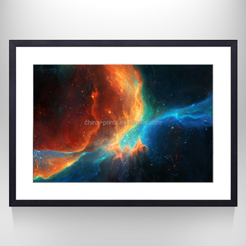 Canvas Prints Outer Space World Photo Printed on Canvas Fashion Wall Art for Framed and Stretched with Floater Frame