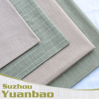 wholesale woven yarn dyed 45% cotton 55% linen fabric