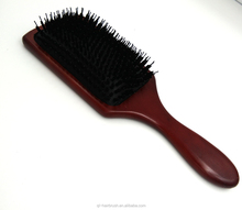 Nylon and boar bristle hair brush best square hair brushes wood paddle brush