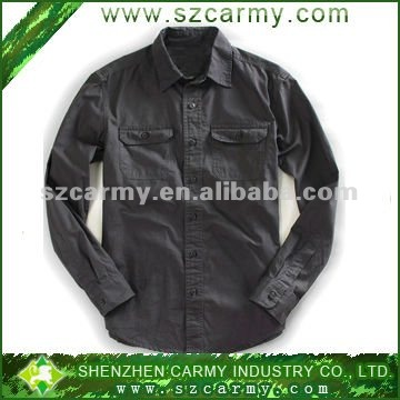 95% cotton fashion military solid color shirts