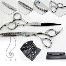 Pro Hair Cutting & Thinning Scissors Shears Hairdressing Set + Comb + Case