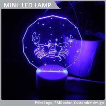 VLL-010 Scorpio 3d led night light, 2015 Horoscope LED Night Light Lamp, New arrival decorative Light.