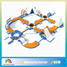 Castle PVC Floating Inflatable Water Park Play Equipment