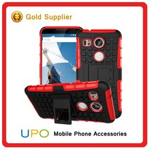 [UPO] Wholesale Hybrid Heavy Duty Armor Combo Shockproof Rugged Mobile Cover Case for Google nexus 5 2015