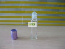 10ml Clear Round Perfume Bottle with Screw/ Roll On Caps