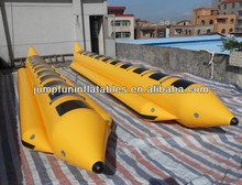 Summer water sports inflatable PVC banana/Big banana boats for 10 people