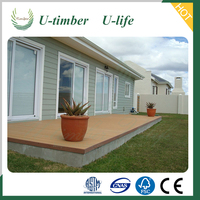 Hot sale Wood plastic WPC tongue and groove composite decking