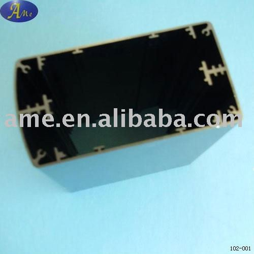 6061/6063 black extruded aluminium switching power supply housing