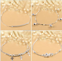 Friendship Lucky Sterling Silver Charms Bracelet