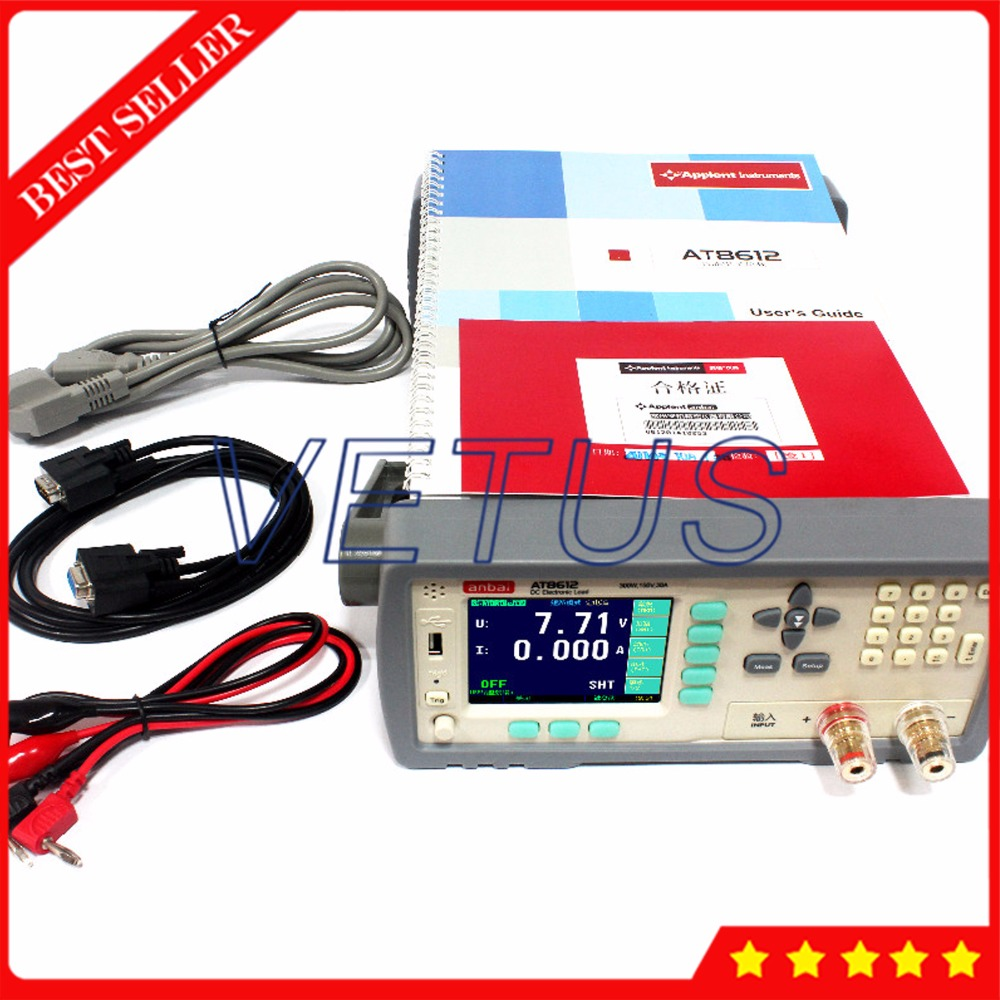 AT8612 Programmable DC Electronic Load 300W 150V 30A 3.5'' TFT LCD RS232 Electronic load controller