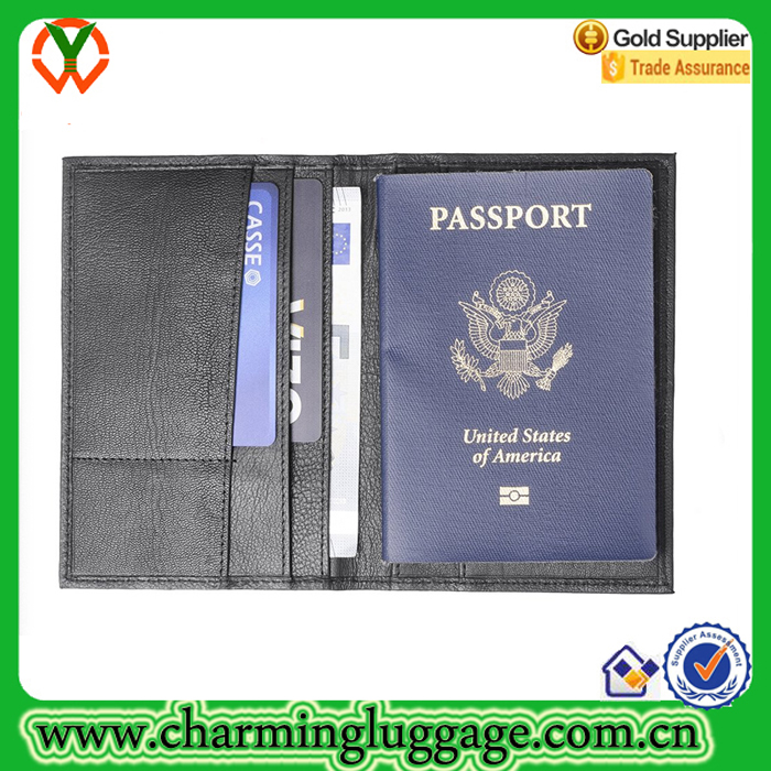 Genuine Leather Great Seal Passport Wallet for Travel