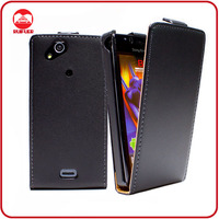 Manufacturer Wholesale Ultra Slim Magnetic Vertical Flip Leather Case for Sony Ericsson Xperia Arc S Lt18i X12