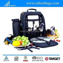 Outdoor Picnic cooler bag, 4 Person Picnic Bag Set
