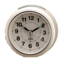Round shape Traditional silent sweep Alarm clocks