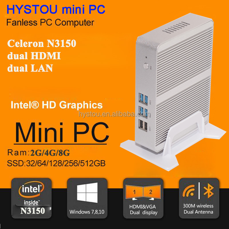 bulk computer sales Celeron N3150 Quad Core 2.08Ghz XBMC OpenELEC mini desktop pc with 300M WiFi USB 3.0 4G RAM 128G SSD