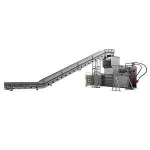 PET Bottle Plastic Scrap Chips Horizontal Baling Press Full Automatic Baler