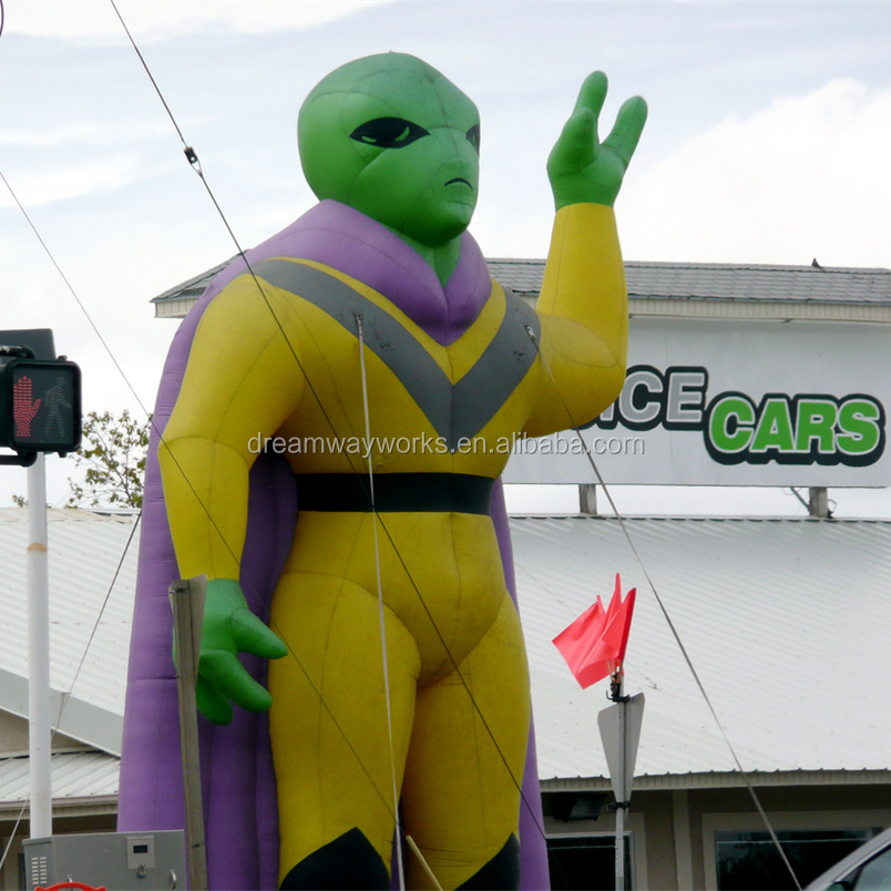 2018 Hot sale giant inflatable alien for advertising