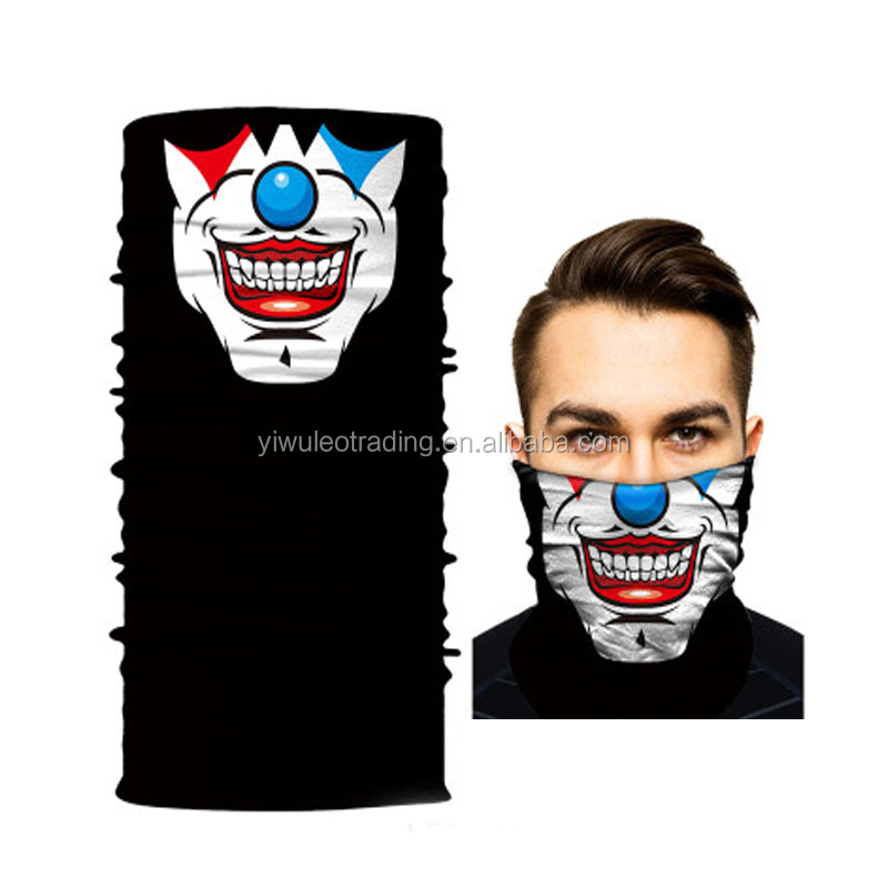 Outdoor Riding Motorcycle Tubes Neck Warmer Face Mask Multifunctional Men Skull Bandana