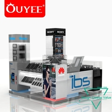 Best Selling High Quality Commercial Custom Retail Phone Shop Decoration Kiosk Design