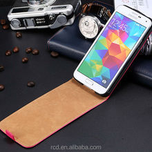 New Arrival Real Leather Flip Cover Case For Samsung Galaxy S5 I9600 Smartphone RCD03866