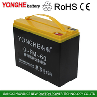 green power rechargeable 12v 60ah lead acid battery for electric tricycle and auto rickshaw