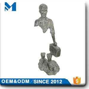 garden male figure stone abstract people statue