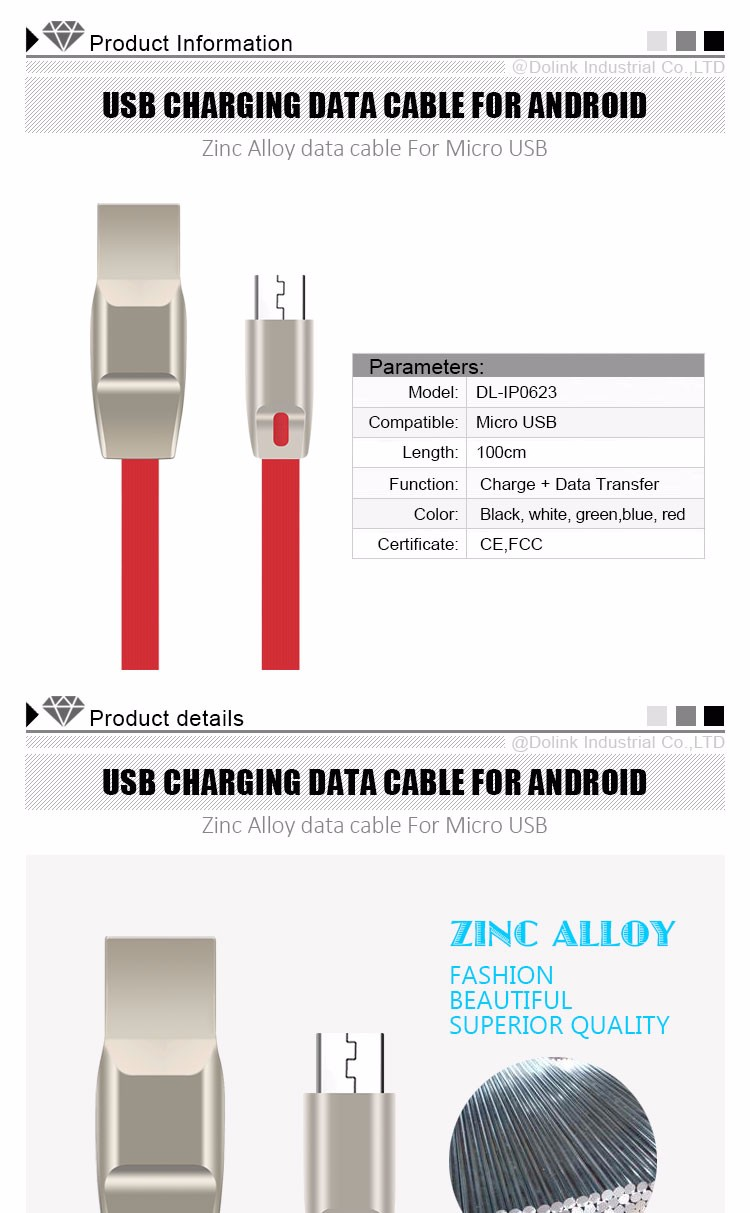 Wholesale Professional Manufacturer Quick Charging Fashion Colorful Flat Micro Usb Data Cable For Mobile Smartphone