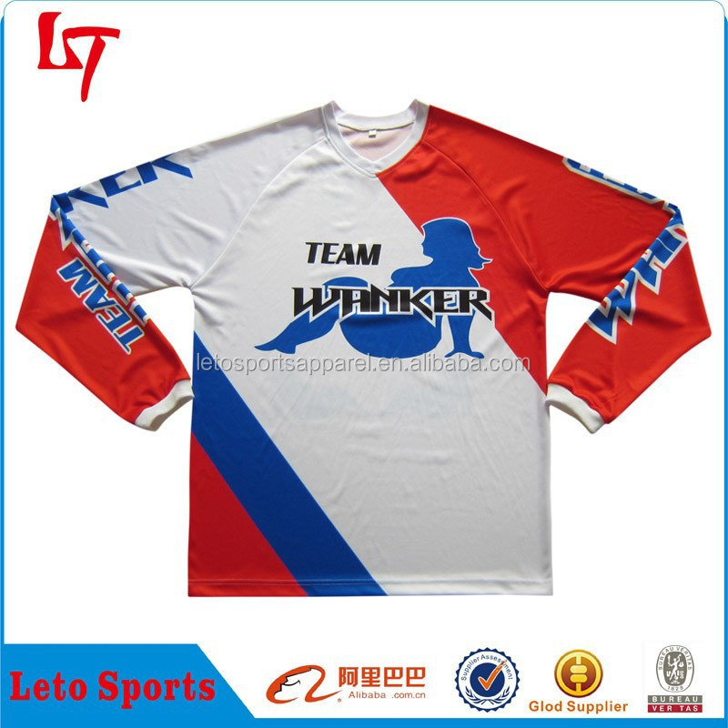 Blank sublimation custom vigorous motor racing jersey /pullover auto racing team wear