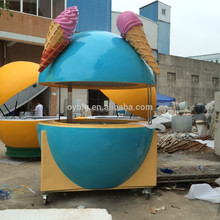 indoor and outdoor mobile 3d ice cream kiosk design