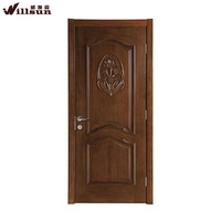 The most popular interior lotus craved simple style wooden door