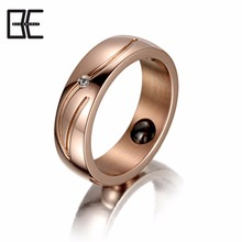 Wholesale Custom Cheap Beautiful Titanium Magnetic Jewelry Blanks Titanium Men's Rings For Men