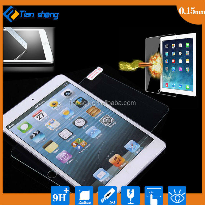 Factory direct sale clear laptop 9h hardness tempered glass screen protector for ipad mini