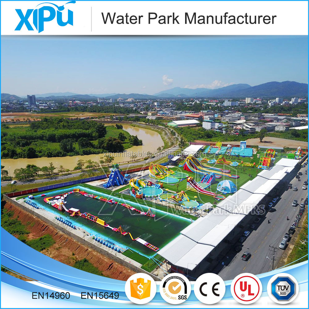 Awesome water park design build, inflatable mobile amusement park
