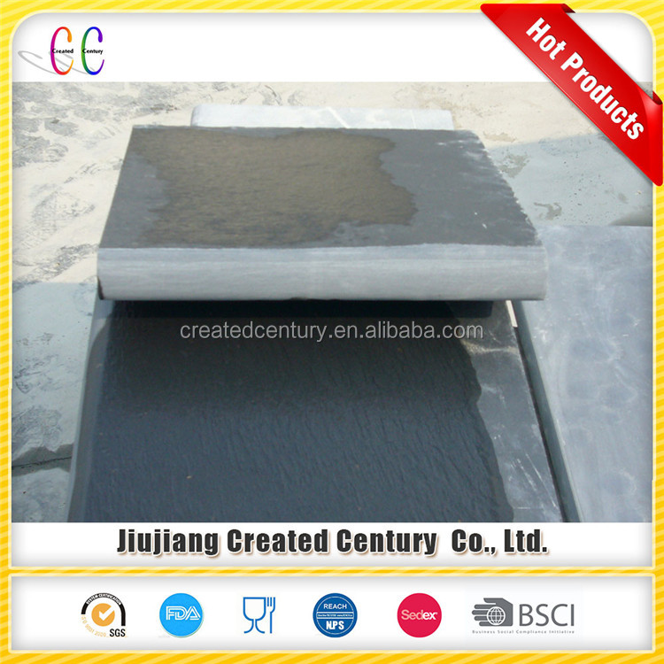 Natural black slate bullnose slate stair step for stair and window