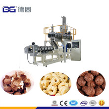 Double Twin Screw Extruder Inflating Corn Puff Food Flakes Coco Ball Fruit Ring Cereal Machinery Production Line