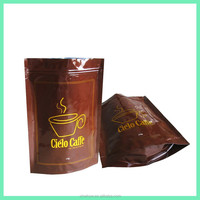 stand up pouch for coffee beans