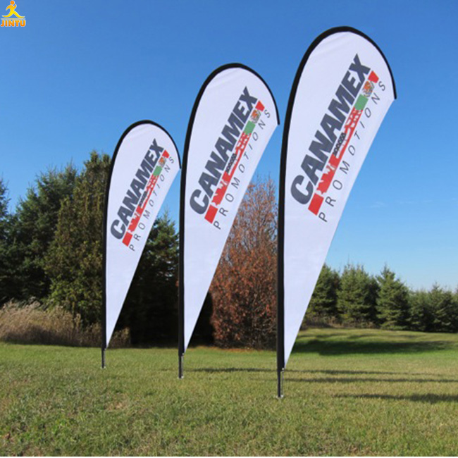 Jintu Factory promotional free standing banners and flags customized advertising flags