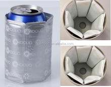 High quality reusable ice gel wine box with 6 grids PVC insert
