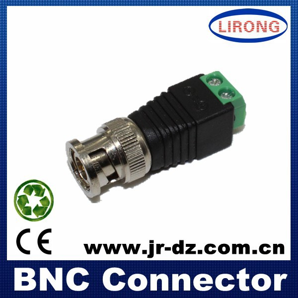 bnc male solderless connector with copper pin to terminal