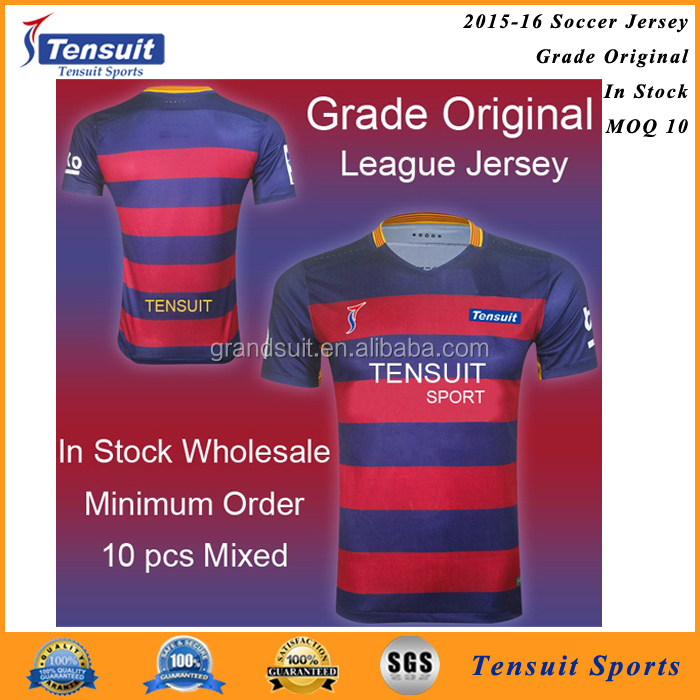 Top Thail quality football jersey 2016 cheap league soccer jersey for wholesale
