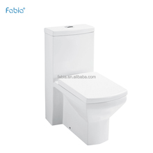 Floor mounted european water closet new model,high square front toilet in inodoro A093
