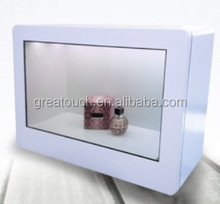 Transparent Display Advertising Box for shopping mall