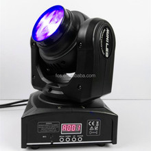 dj stage light led beam moving head rgbw 4in1 mini 40w led wash spot light